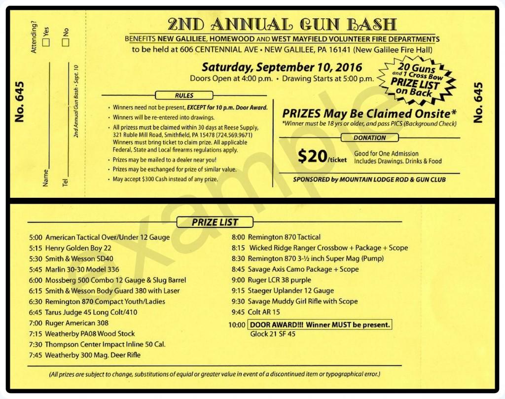 WMVFD GUN BASH EXAMPLE TICKET